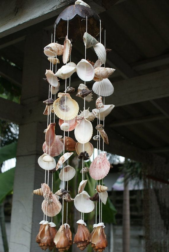 Coconut Seashell Wind Chime by SeaSideVibes on Etsy, $50.00