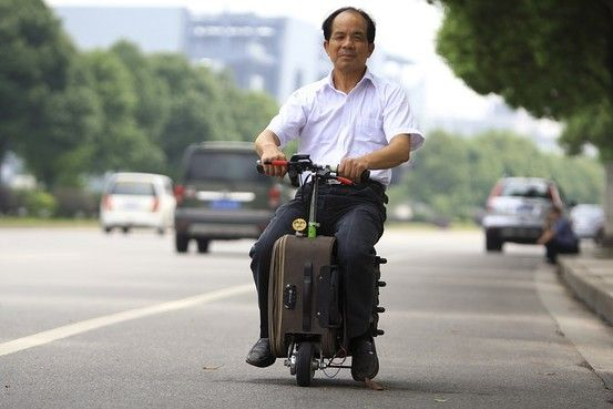 Love it!  Chinese Inventor Builds a Scooter That Doubles As a Suitcase - China Real Time Report - WSJ