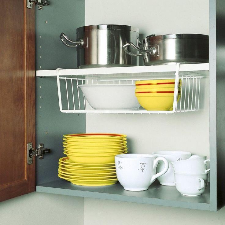 2 x Large Kitchen Under Shelf Storage Basket Lightweight Metal Organiser Rack in Home, Furniture & DIY, Cookware, Dining & Bar, Food & Kitchen Storage | eBay!