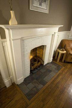 Eastwood Slate Fireplace Hearth - traditional - family room - nashville - Peter Bales