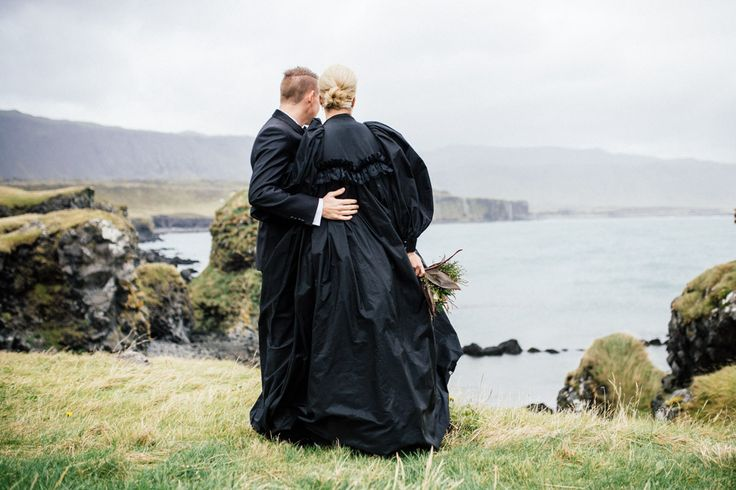 Wedding portraits near Budir, Iceland