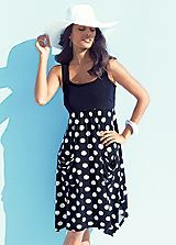 Spot Print Large Pocket Dress Dotty, just like me! :) #ShiptoShore