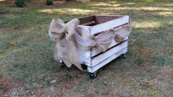 Rustic Wedding Wooden Wagon, Flower Girl Wedding Wagon, Rustic Wedding Decor, Newborn Photo Prop Wagon, Flower Girl Carriage