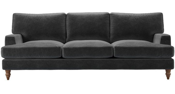 Brilliant Isla 4 Seat Sofa In Armour Smart Velvet Sofas For Living Download Free Architecture Designs Xaembritishbridgeorg