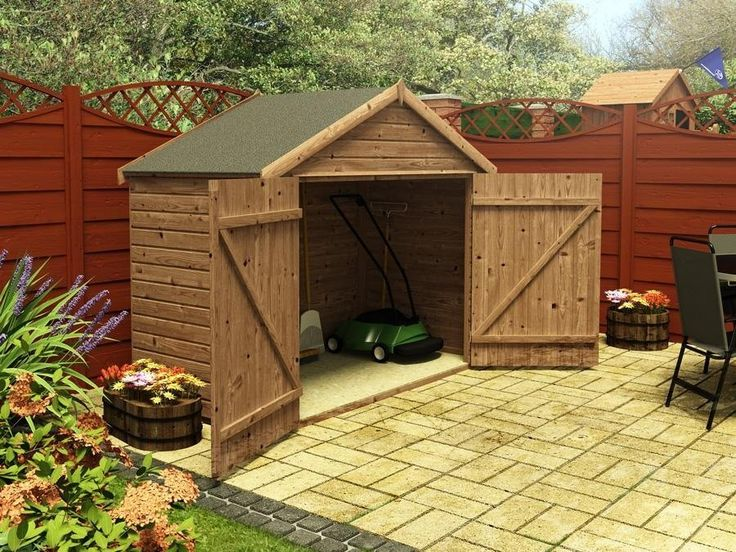 17 best images about sheds on pinterest gardens bike for Motorcycle storage shed