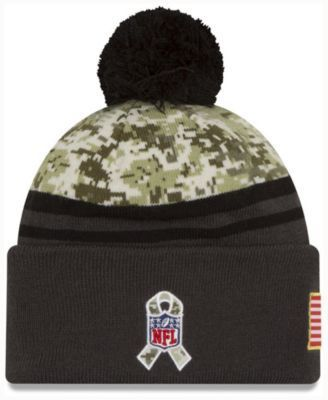 New Era Men's Los Angeles Chargers Salute to Service Official Pom Knit Hat - Blue Adjustable