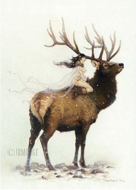 Winter Fairy - Le Cerf et la Fée