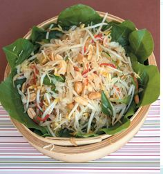 Balinese Cabbage and Coconut Salad October 6, 2016 Ingredients ¼ small cabbage, shredded 1 cup chopped baby spinach leaves or silverbeet 115 g (4 oz/1 cup) bean sprouts 1 tbsp…