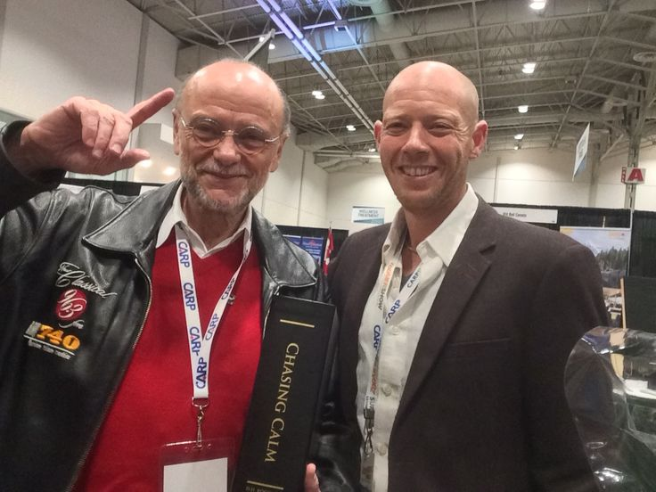"Moses Znaimer & Jay at the ZoomerShow in Toronto.  You know how it can be when you meet someone whose work and ethos you respect? Sometimes they are not ""all that"". Moses was ""all that"" & more."