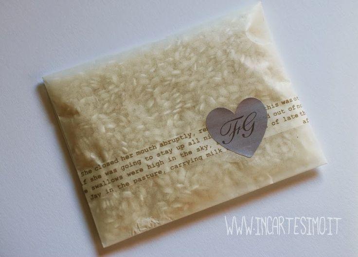 Incartesimo: Idea per sacchetti riso