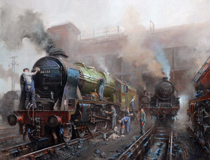 Fine Art Prints of Railway Scenes & Train Portraits - Spick 'n' Span by David Noble