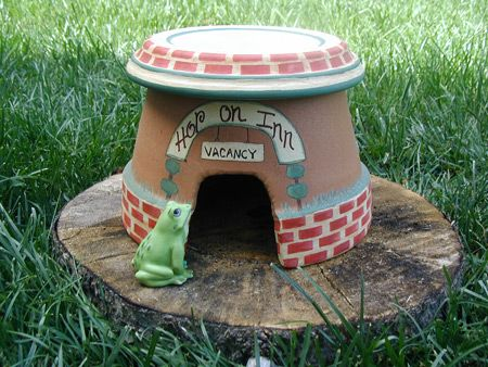 make a frog house for your garden - Google Search