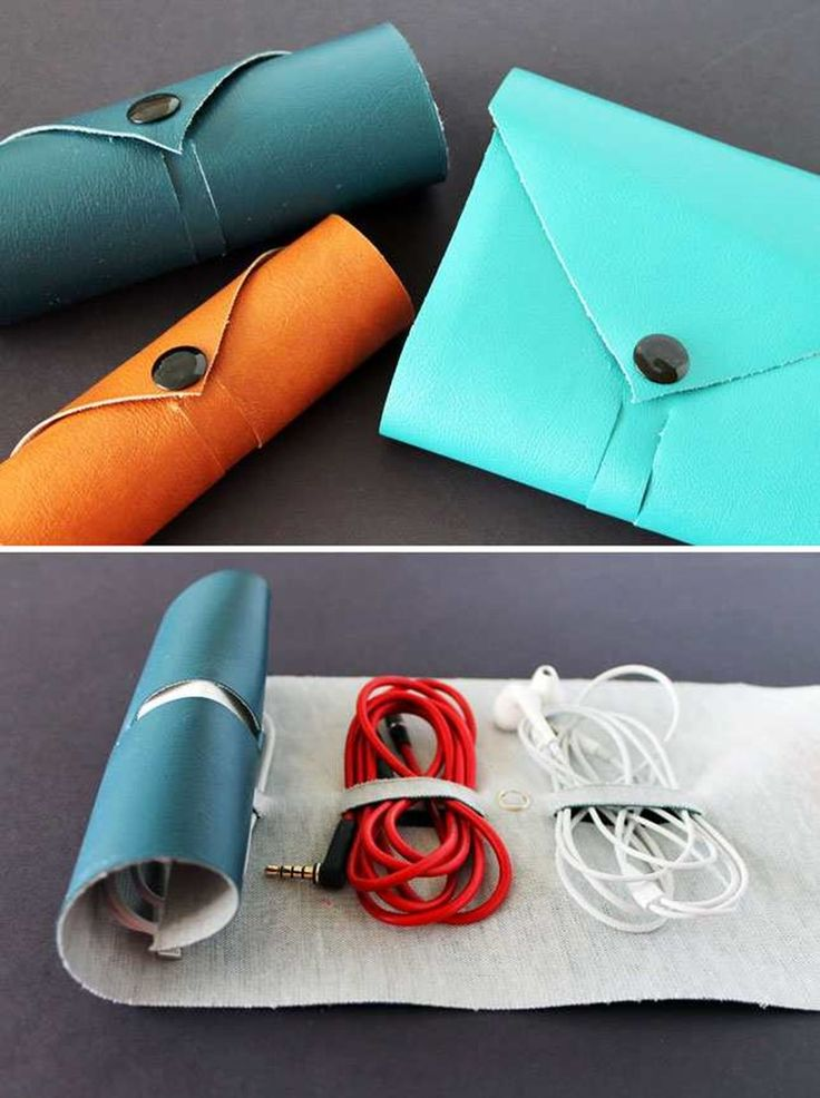 Personalized gifts for dad: Case for cables, headphones, etc. | DIY is FUN