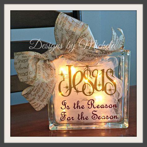 Christmas Jesus is the Reason for the Season Light Ornament, GF018