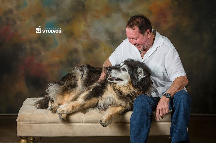 Sweet photograph of man and man's best friend!