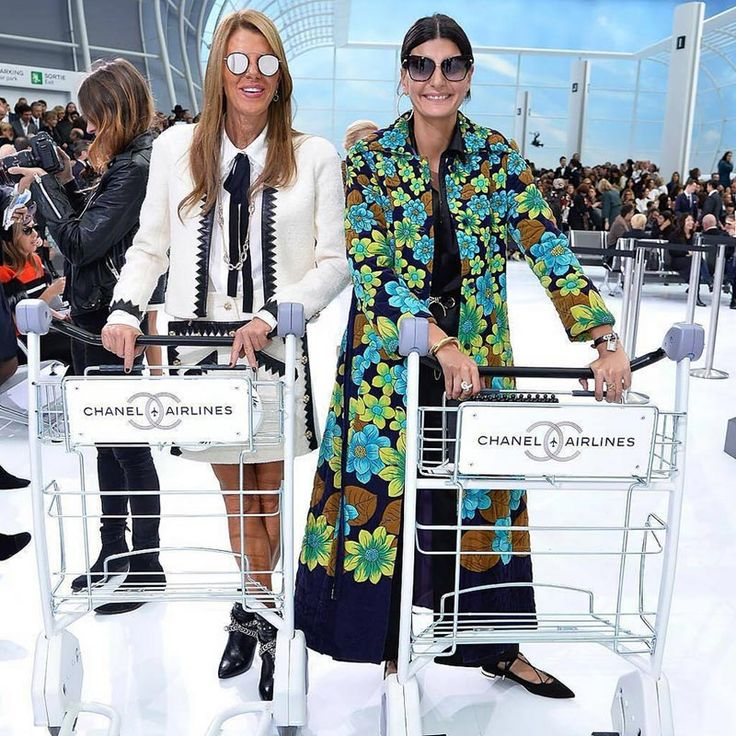 Spotted at Chanel Airlines Spring 2016 | Selectd.co  Anna Dello Russo Paris Chanel 2016 http://www.selectd.co/news/spotted-at-chanel-airlines-spring-2016