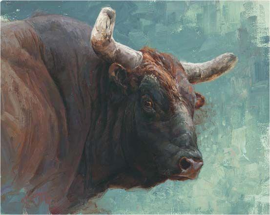 bull painting by Greg Beecham