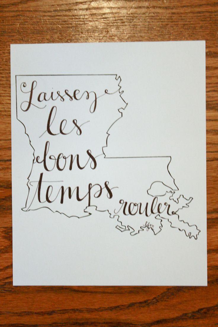 Louisiana: Laissez les Bons Temps Rouler Print. $15.00, via Etsy.