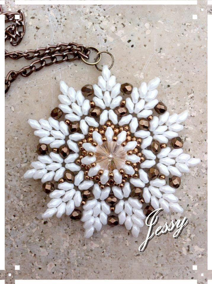 Ciondolo Modigliani - Superduo / twind beads Pendent. ~ Seed Bead Tutorials