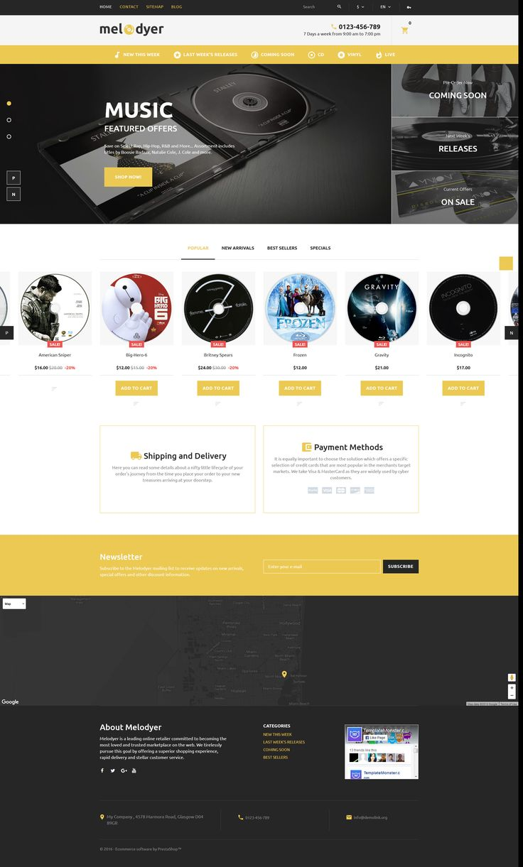Melodyer audio store responsive prestashop theme