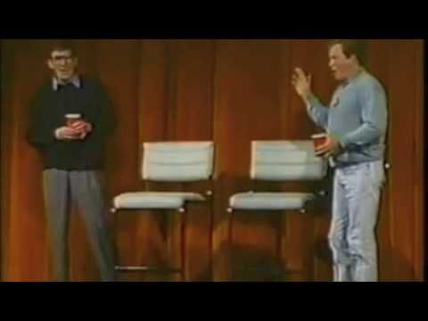 Leonard Nimoy tries to prove that William Shatner is not a nice guy and tells us about the time Bill stole his bike.