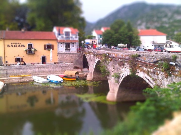 Montenegro, Virpazar, Skandar lake. My experiment with tilt-shifting photos...