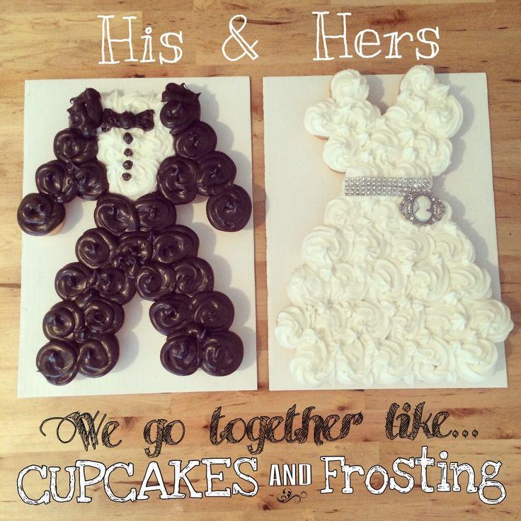 Wedding Dress & Groom Tuxedo Cupcake-Cake! A Match-Made in Heaven #madebymoi