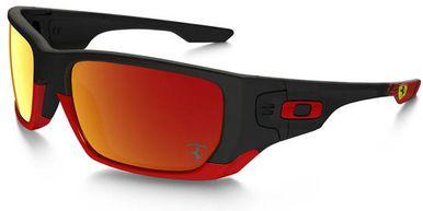 Oakley Ferrari Style Switch Sunglasses with Matte Black Frame and Ruby Iridium Lenses