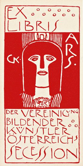 Ex Libris by Gustav Klimt, artist, and one of the founders of the Vienna Secession (1897 - C.1905).