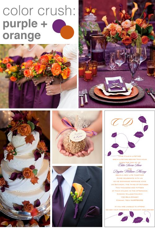 Purple and Orange Wedding Color Crush