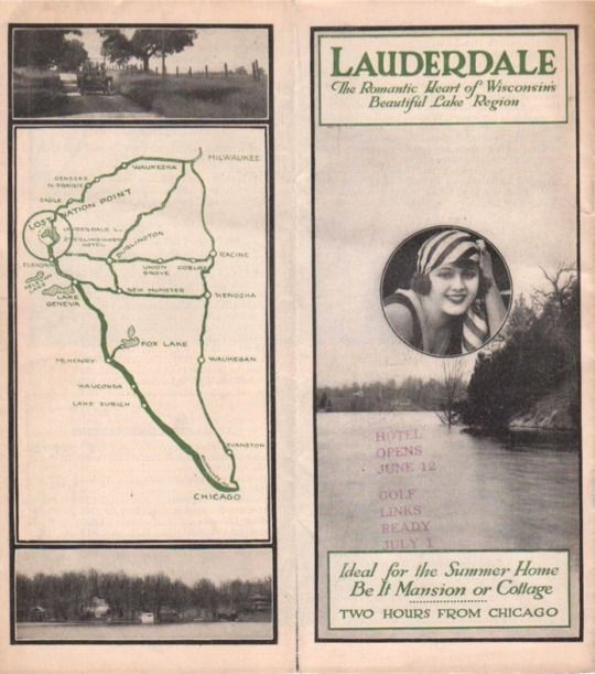 1920's Lauderdale Lakes Booklet.  Entire booklet is available at www.facebook.com/theboathouse.co #Lauderdale Lakes Wisconsin #vintage Lauderdale Lakes