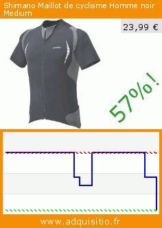 Shimano Maillot de cyclisme Homme noir Medium (Vêtements). Réduction de 57%! Prix actuel 23,99 €, l'ancien prix était de 55,97 €. http://www.adquisitio.fr/shimano/maillot-cyclisme-homme-2
