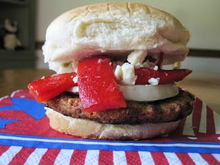 Red, White and Blue Burger | Recipes Tried | Pinterest | Burgers ...
