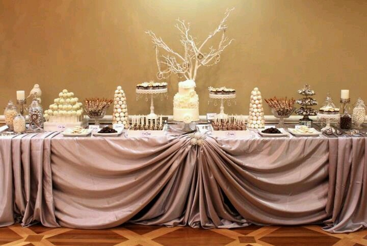 Beautiful candy table!!