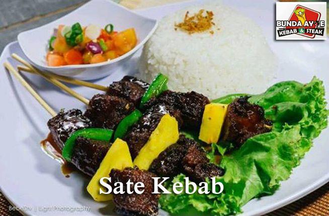 Sate Kebab - Kedai Bunda Ayoe Kebab & Steak, Jl. Nogososro No.51 Tlogosari Semarang. #SateKebab #KulinerSemarang #KedaiBundaAyoe #IndonesianFood