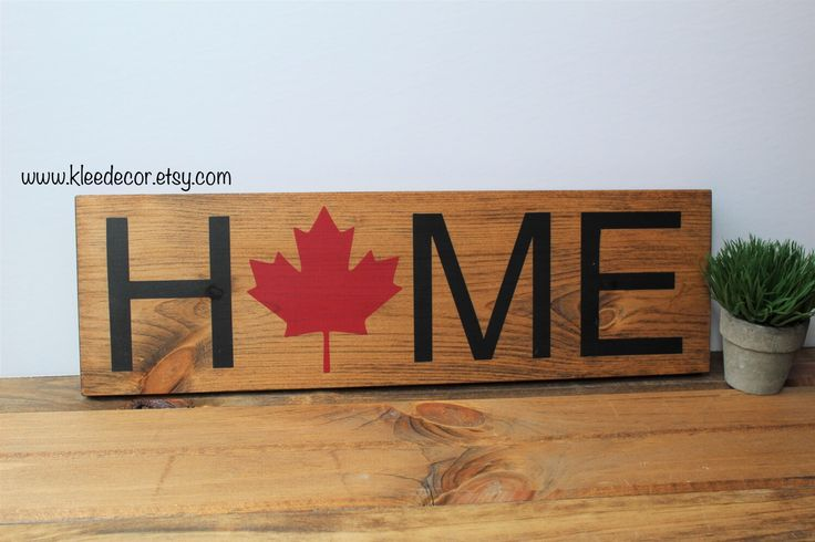 Celebrate Canada's 150th birthday with this perfect sign! Available on etsy at kleedecor