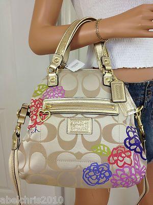 17 best fashion images on pinterest coach poppy girly and i want coach khaki gold glitter signature poppy style crossbody shoulder bag purse mightylinksfo