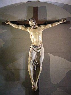 CROCIFISSO DI SANTA CROCE - Donatello - 1406/1408 - statua di legno policromo scolpita a tutto tondo - Basilica di Santa Croce (Firenze)