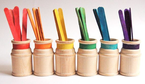 Wooden Toy SORTING STICKS A Montessori Inspired por applenamos