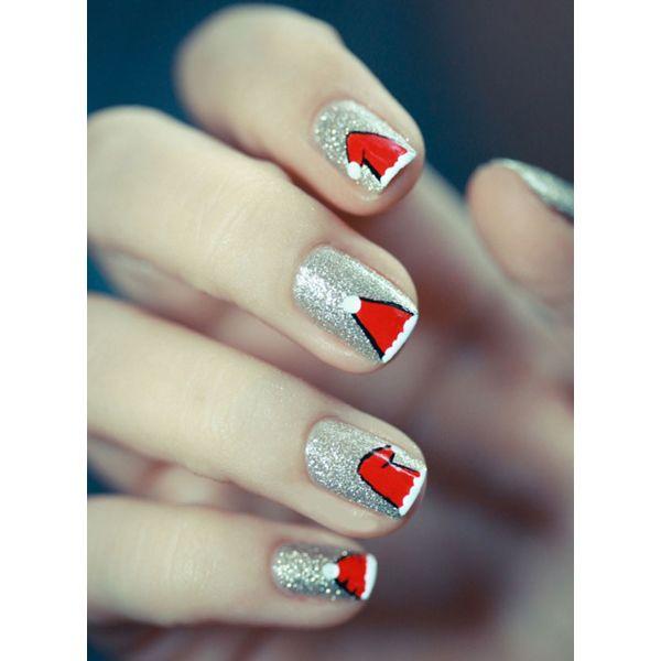 Santa Nail Art: Best 25+ Santa Hat Nails Ideas On Pinterest