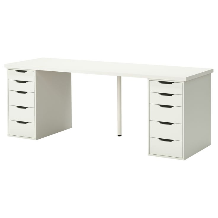 linnmon alex table white the white tables and ikea desk. Black Bedroom Furniture Sets. Home Design Ideas