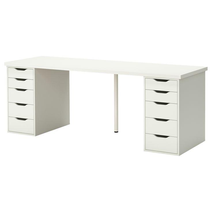 LINNMON  ALEX Table, white  The white, Tables and Ikea desk