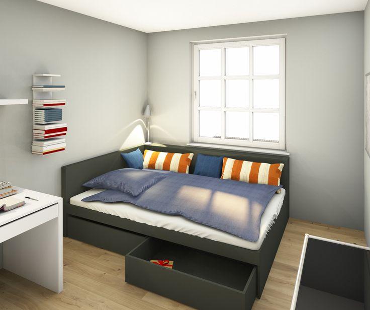 die besten 25 bett mit stauraum ideen auf pinterest bett mit viel stauraum ikea bett. Black Bedroom Furniture Sets. Home Design Ideas