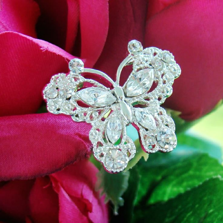Crystal Butterfly Bouquet Jewelry  http://oneclassicwedding.com/Wedding-Accessories/Bouquet-Jewelry/Crystal-Butterfly-Bouquet-Jewlery