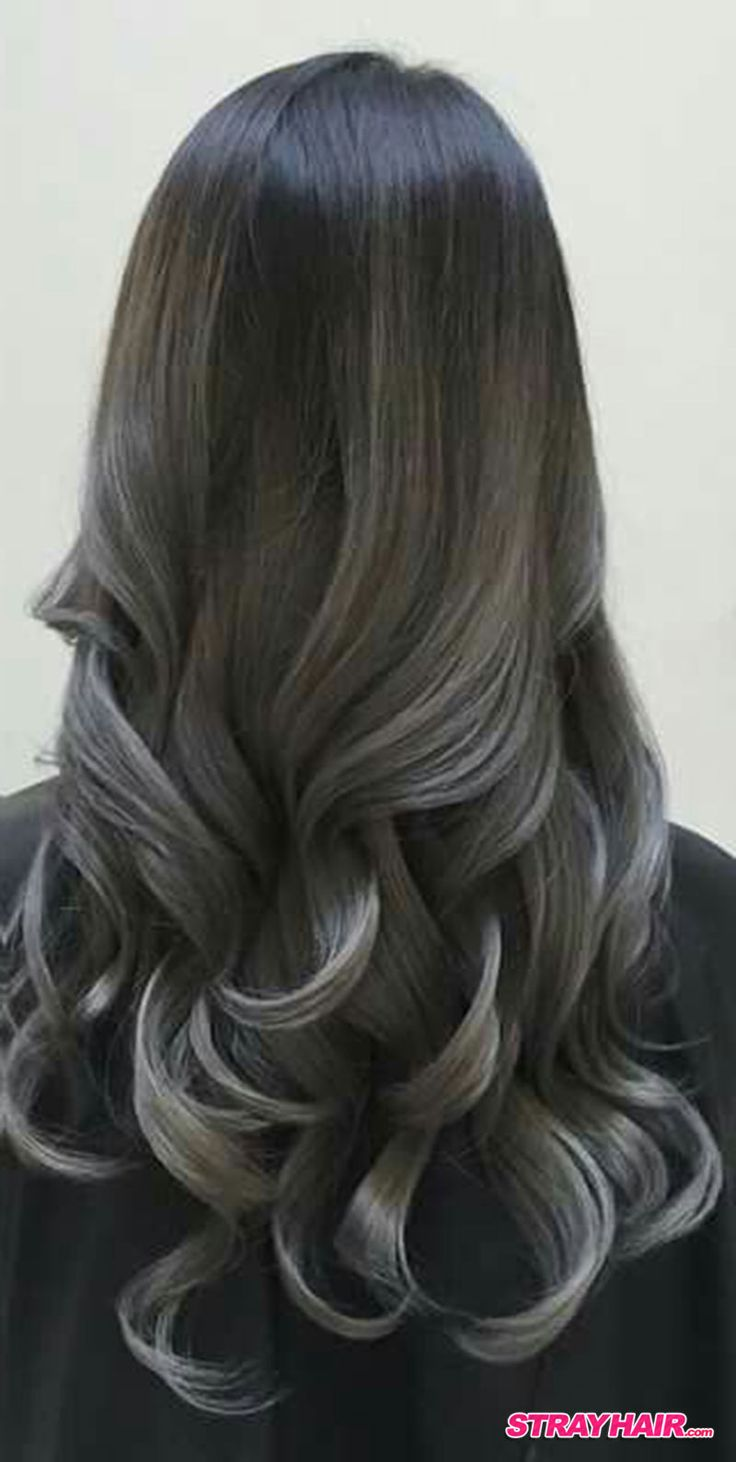 Gunmetal Gray Balayage Hair Hair Pinterest Gray