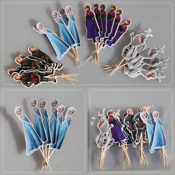 горячая продажа сид замороженный кекс ботворезы выбирает детский день рождения украшения 4 дизайна эльза/Анна/олфа