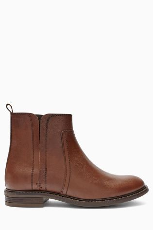 Buy Tan Casual Leather Chelsea Boots from the Next UK online shop