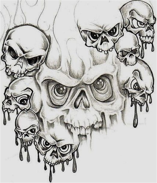 Pin140 Skulls Grim Reaper Skeleton Tattoos Demon Tattoo Evil