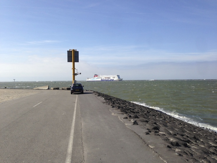 End of the public road at the 2nd Maasvlakte (Rotterdam)