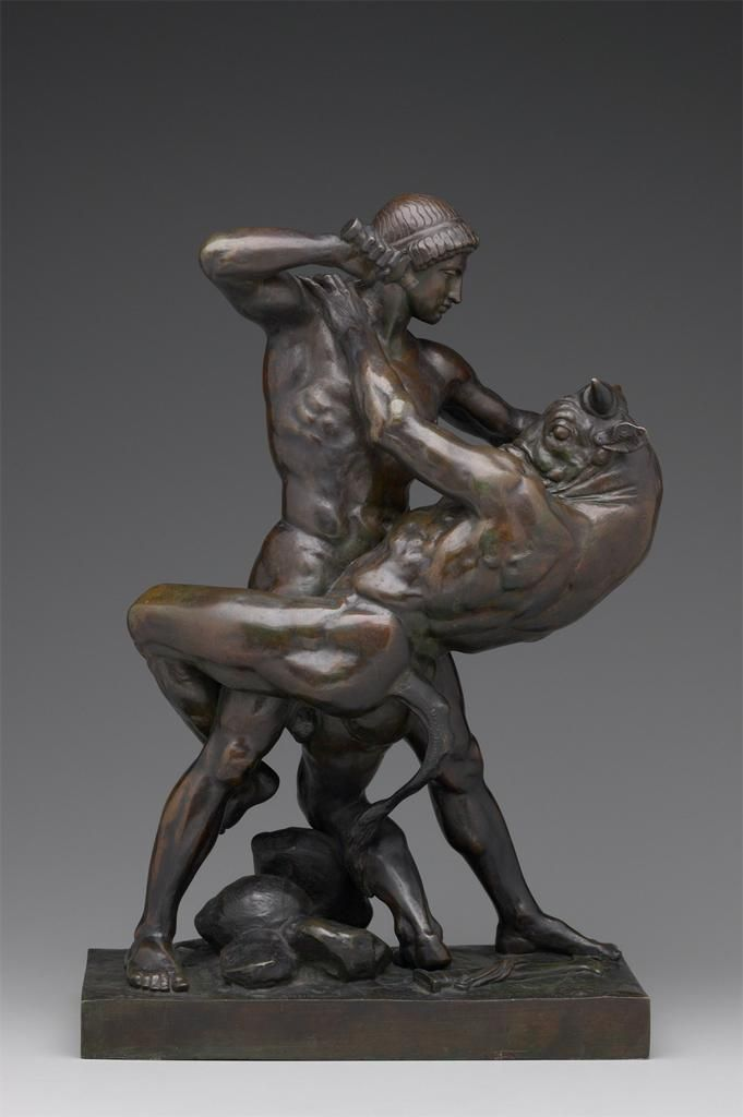 Theseus and the Minotaur by Antoine-Louis Barye, c.1843